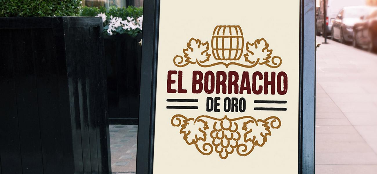 el borracho de oro restaurant logo design birmingham