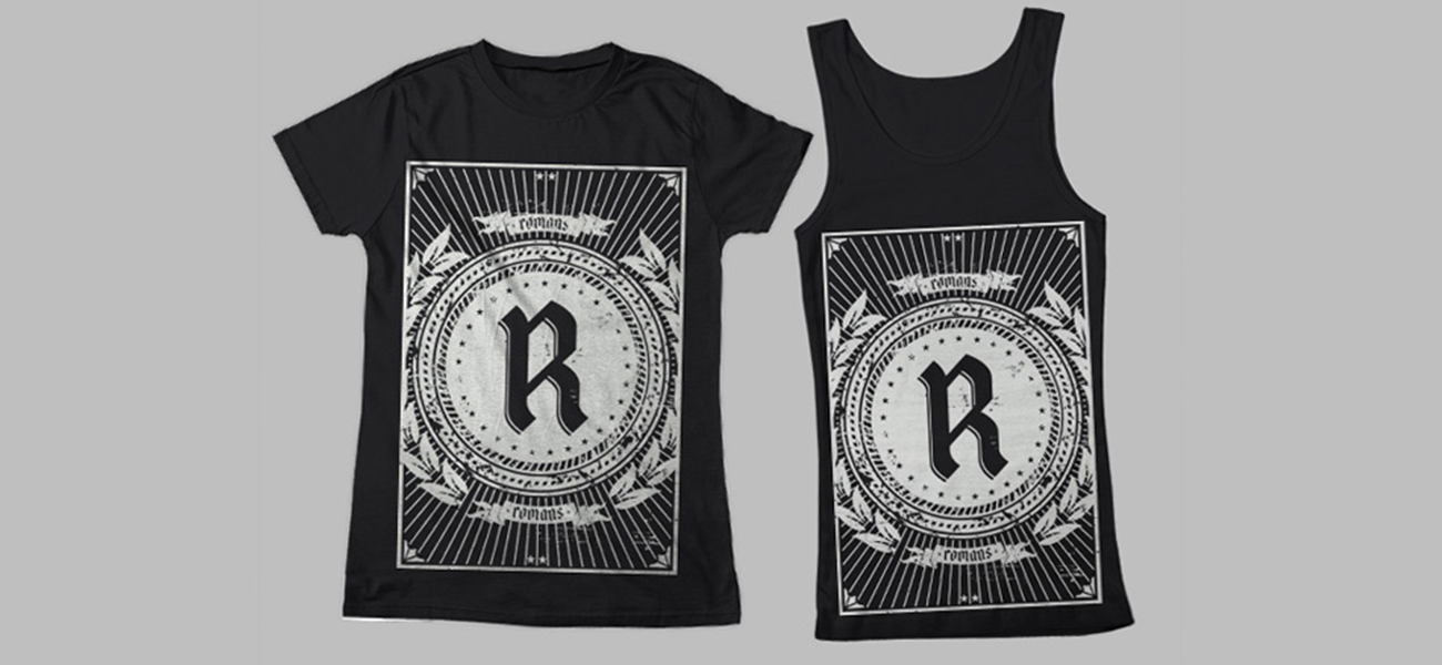 Romans Band Logo, CD Artwork and Merch Design
