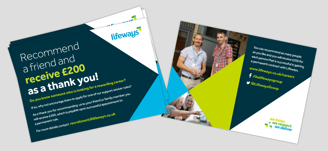 Lifeways Postcard Flyer Design