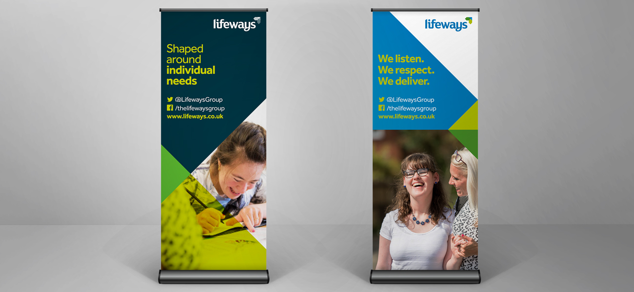 Lifeways Roller Banner Design Birmingham