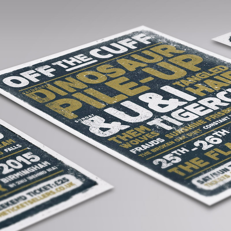 Off The Cuff Festival Birmingham Flyer Design