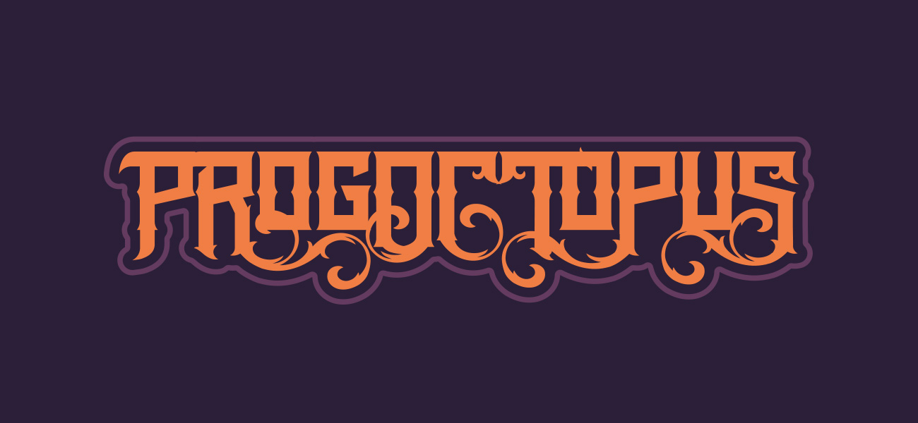 Progoctopus Band Logo Design