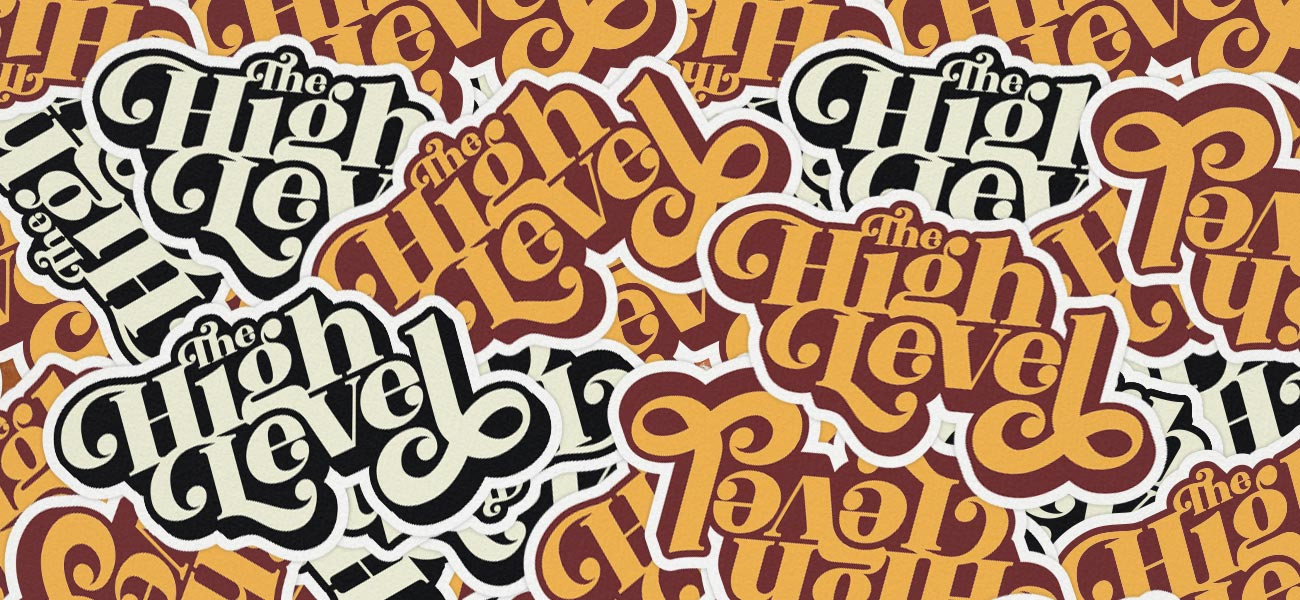 The High Level Band Logo Custom Shaped Stickers