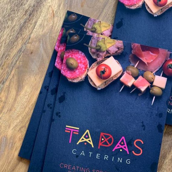 tapas catering branding and print management graphic design birmingham