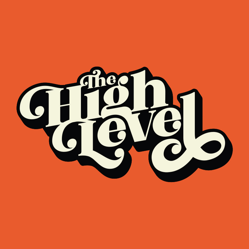 the high level band logo design