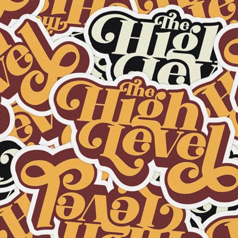 The High Level Band Logo Custom Shaped Stickers