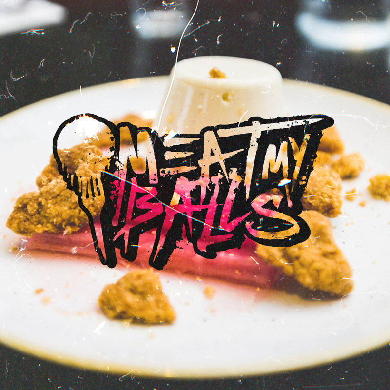 Meat My Balls Food Blog Logo Design
