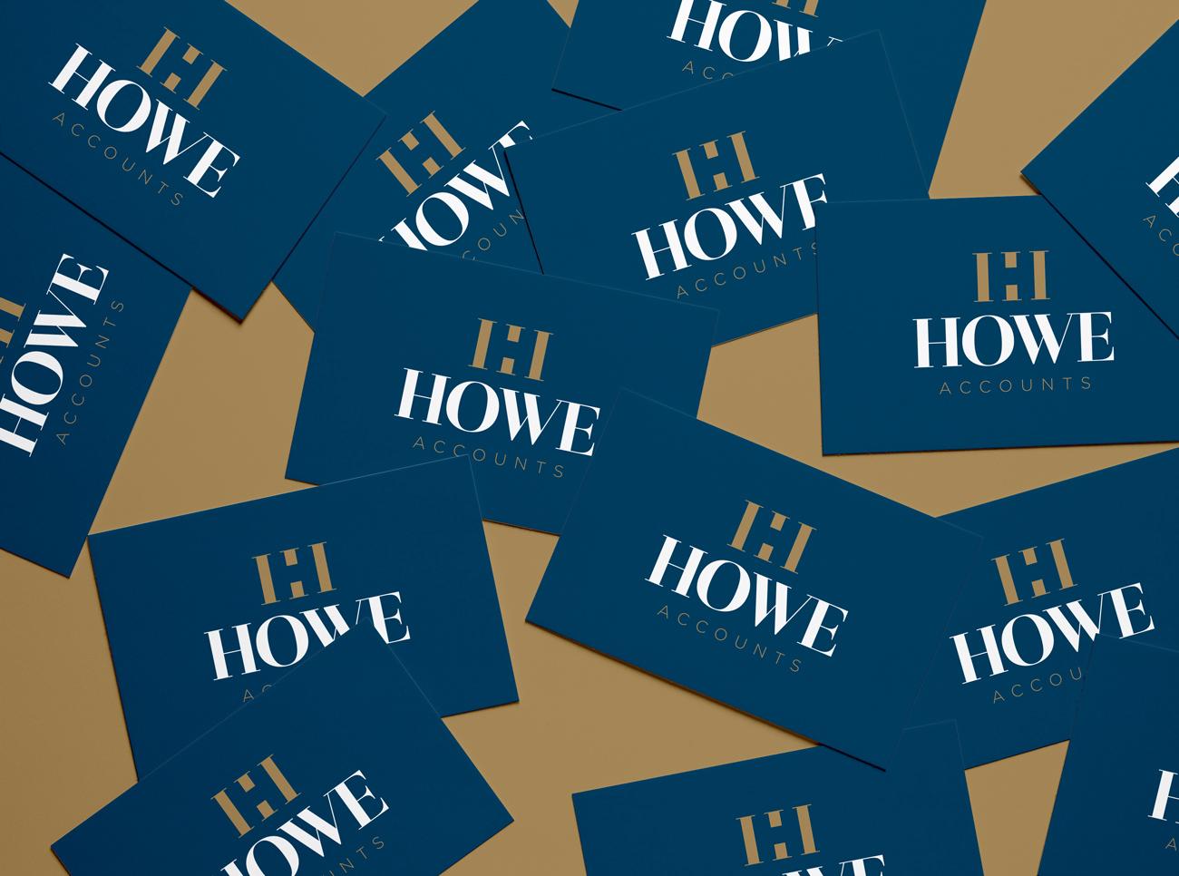 Howe Accounts Business Card Design Birmingham