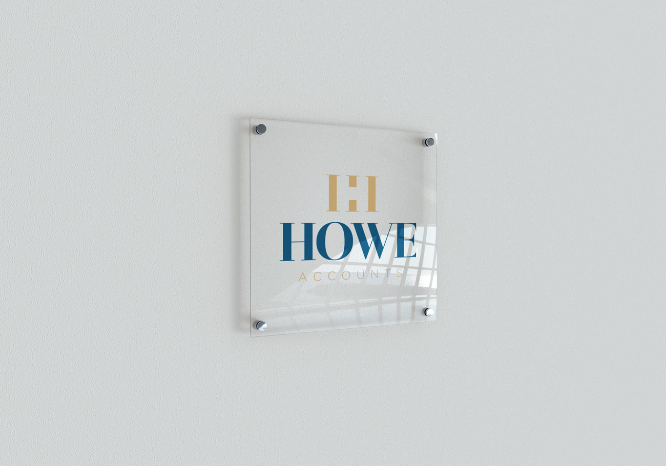 Howe Accounts Logo Signage Design Birmingham