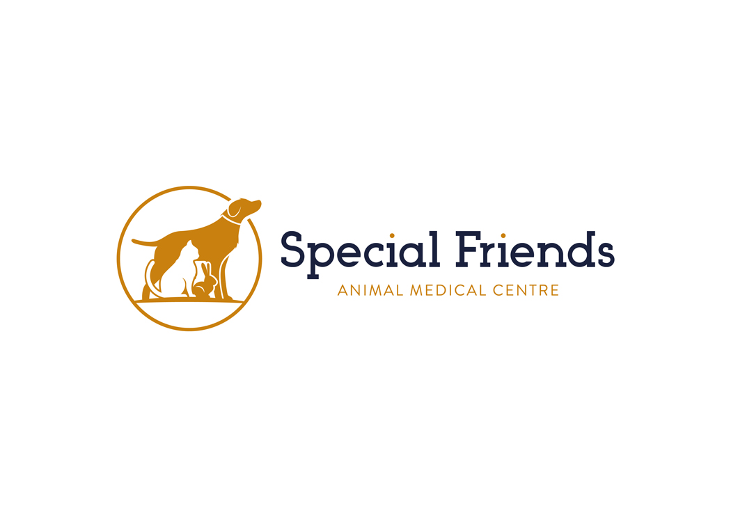Special Friends Vets Logo Design Birmingham White Linear